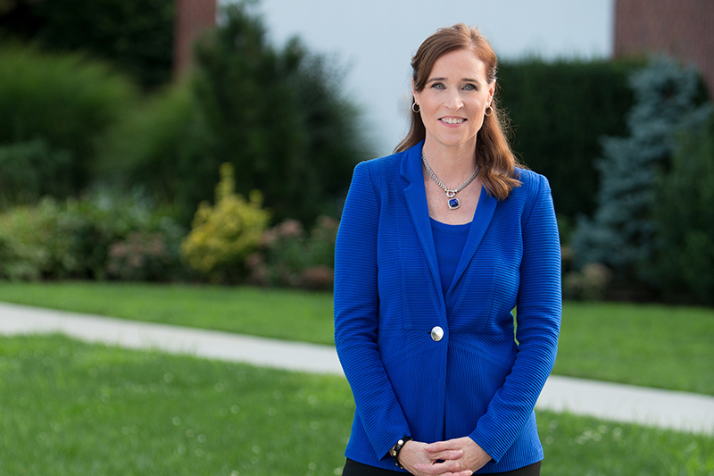 Adelphi President Dr. Christine M. Riordan, press photo