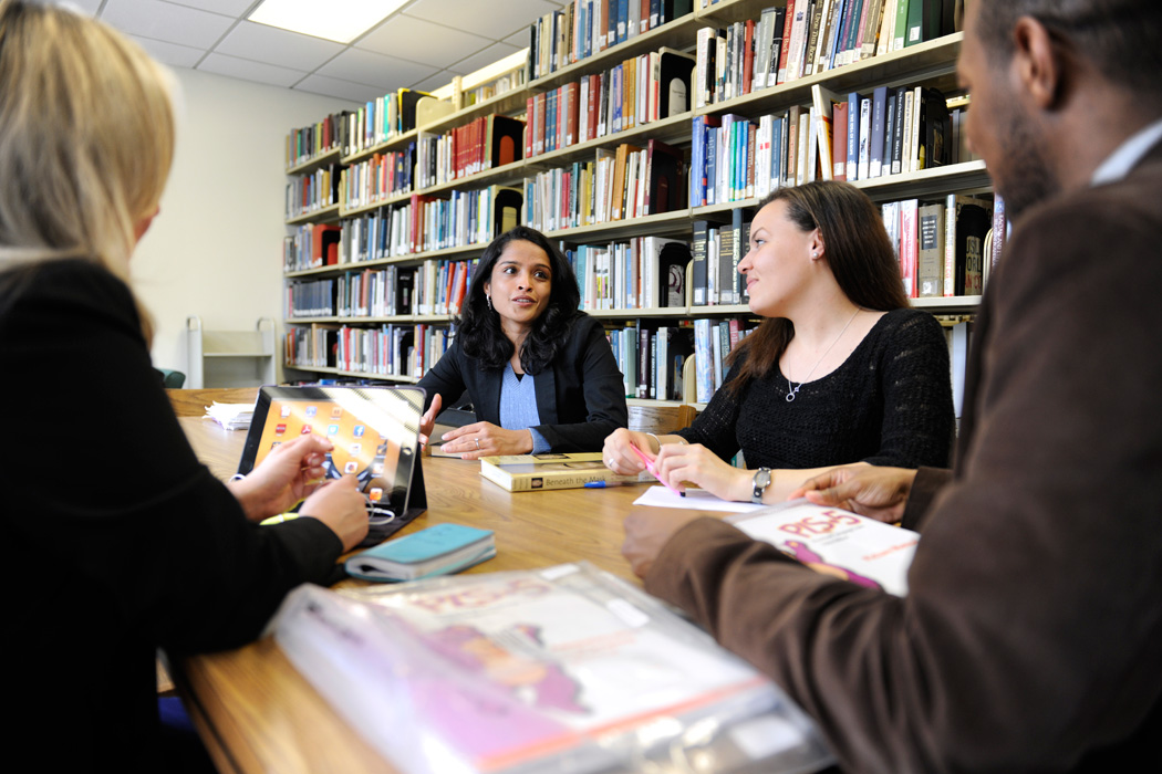 Adelphi Students at the Manhattan Center Library